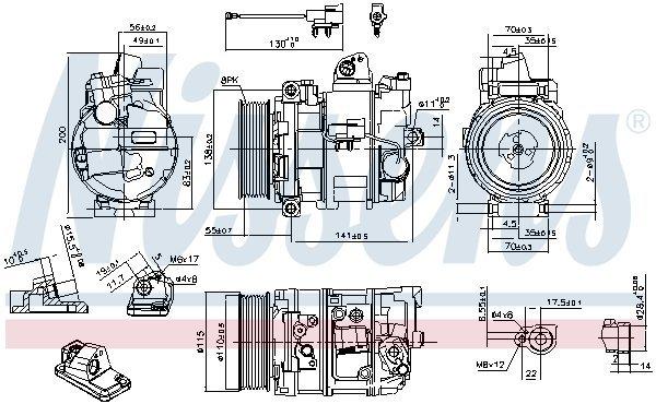Kompressor, Klimaanlage NISSENS 890082