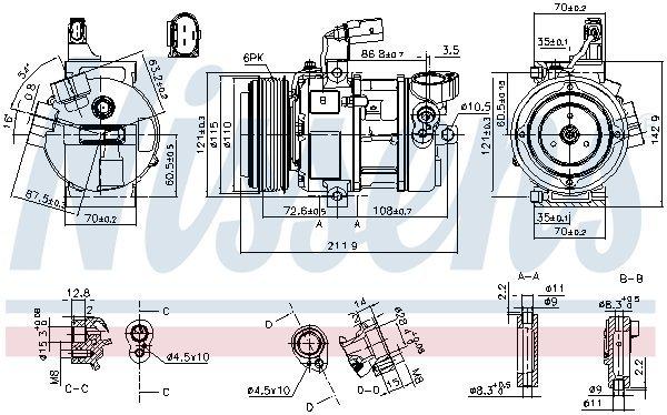 Kompressor, Klimaanlage NISSENS 890087