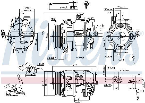 Kompressor, Klimaanlage NISSENS 890117