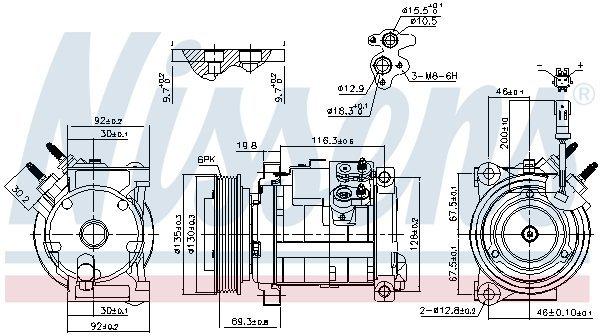 Kompressor, Klimaanlage NISSENS 890152