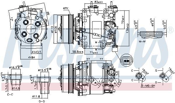 Kompressor, Klimaanlage NISSENS 890155