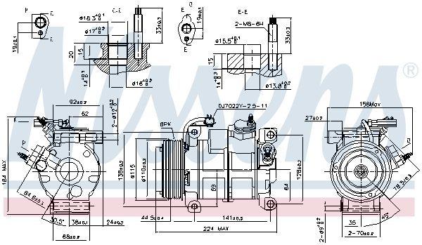 Kompressor, Klimaanlage NISSENS 890169