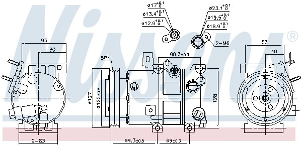 Kompressor, Klimaanlage NISSENS 890573