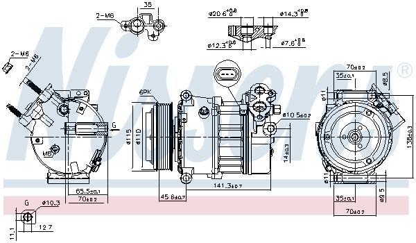 Kompressor, Klimaanlage NISSENS 890617