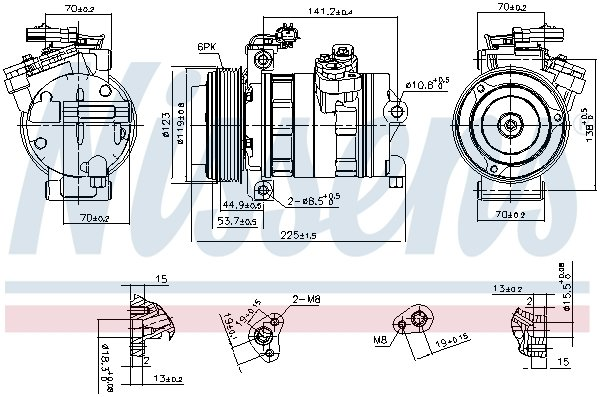 Kompressor, Klimaanlage NISSENS 890662