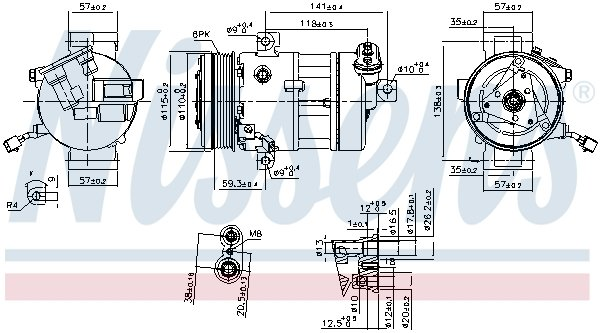 Kompressor, Klimaanlage NISSENS 890667