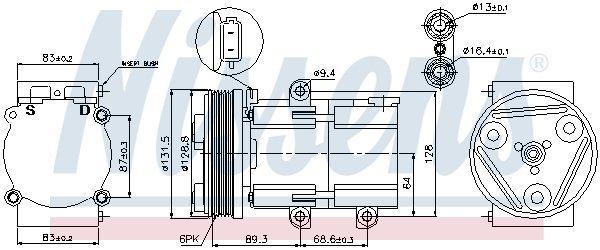 Kompressor, Klimaanlage NISSENS 89068