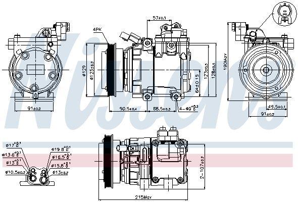 Kompressor, Klimaanlage NISSENS 89082