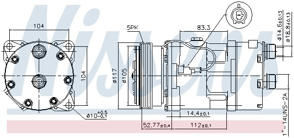 Kompressor, Klimaanlage NISSENS 89123