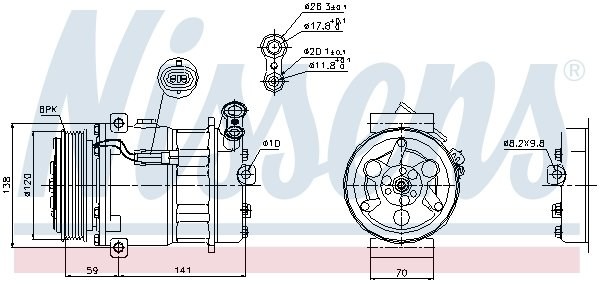 Kompressor, Klimaanlage NISSENS 89124