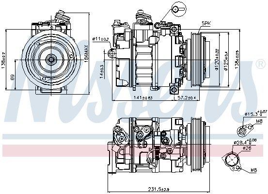 Kompressor, Klimaanlage NISSENS 89231