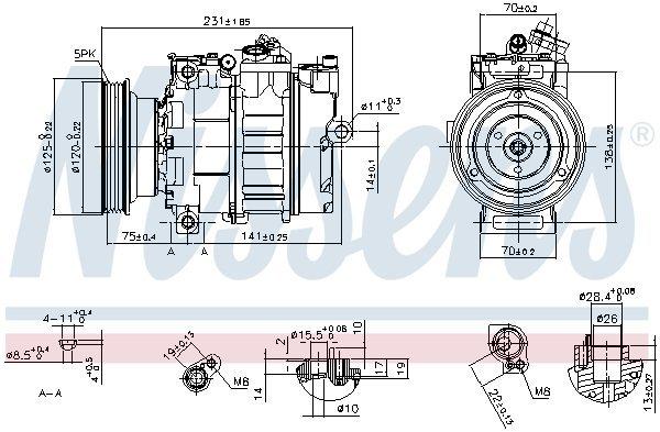 Kompressor, Klimaanlage NISSENS 89232