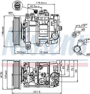 Kompressor, Klimaanlage NISSENS 89236 Bild 1