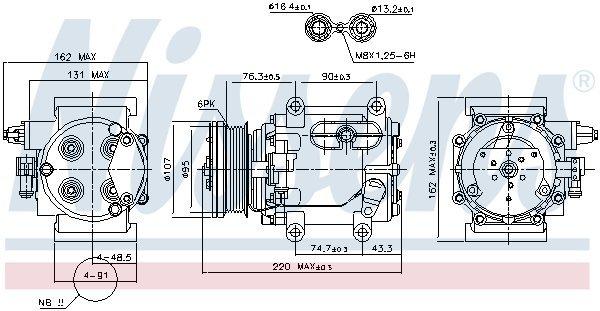 Kompressor, Klimaanlage NISSENS 89239