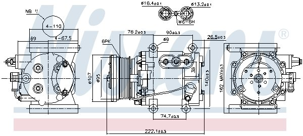 Kompressor, Klimaanlage NISSENS 89241