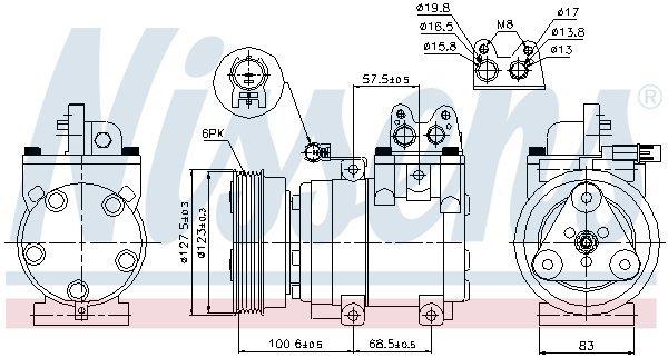 Kompressor, Klimaanlage NISSENS 89270