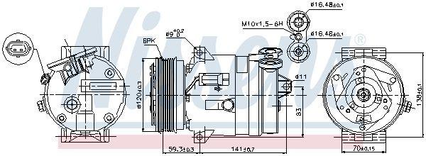 Kompressor, Klimaanlage NISSENS 89284