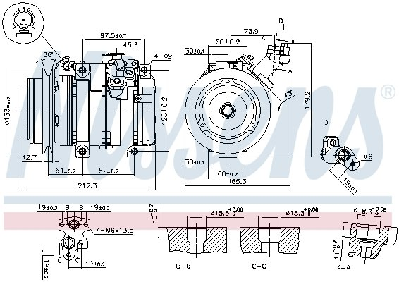 Kompressor, Klimaanlage NISSENS 89312