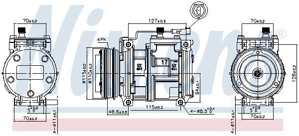 Kompressor, Klimaanlage NISSENS 89329
