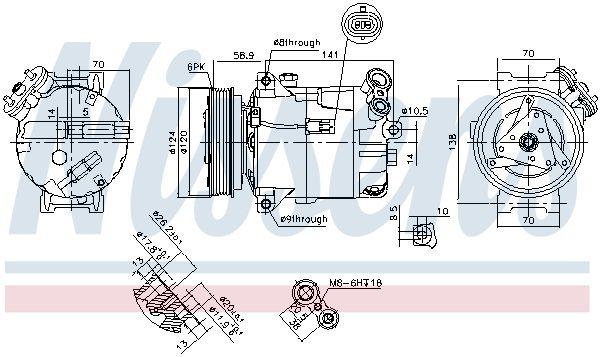 Kompressor, Klimaanlage NISSENS 89343