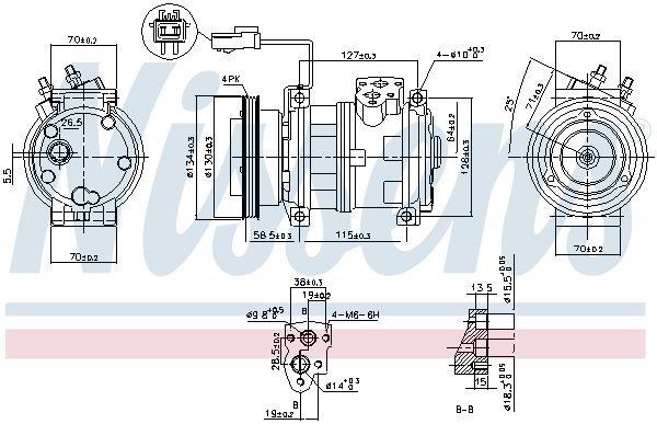 Kompressor, Klimaanlage NISSENS 89382