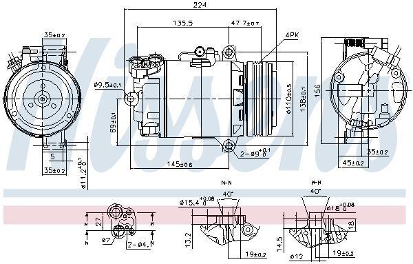 Kompressor, Klimaanlage NISSENS 89483