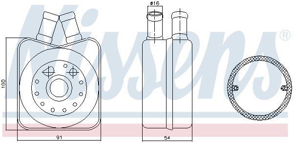 Ölkühler, Motoröl NISSENS 90606 Bild 3
