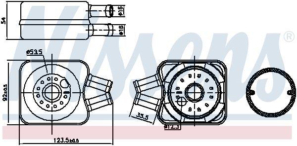 Ölkühler, Motoröl NISSENS 90607 Bild 2
