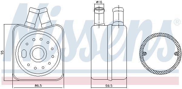 Ölkühler, Motoröl NISSENS 90608 Bild 4