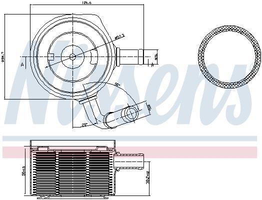 Ölkühler, Motoröl NISSENS 90669 Bild 5