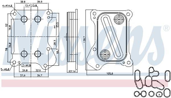 Ölkühler, Motoröl NISSENS 90700 Bild 6