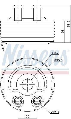 Ölkühler, Motoröl NISSENS 90719 Bild 7