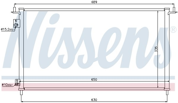 Kondensator, Klimaanlage NISSENS 940162