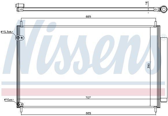 Kondensator, Klimaanlage NISSENS 940609