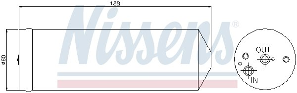 Trockner, Klimaanlage NISSENS 95065 Bild 1