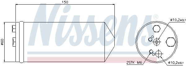 Trockner, Klimaanlage NISSENS 95325 Bild 1