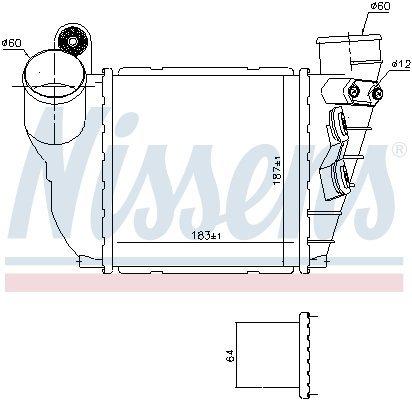 Ladeluftkühler NISSENS 96488 Bild 4
