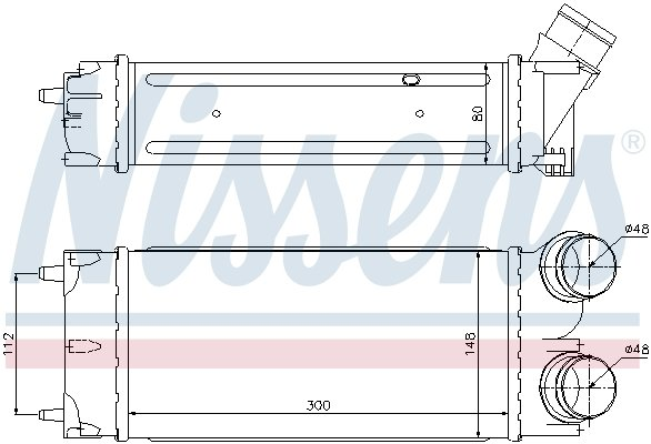 Ladeluftkühler NISSENS 96627 Bild 6