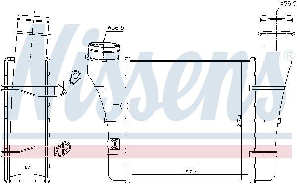 Ladeluftkühler NISSENS 96707 Bild 2