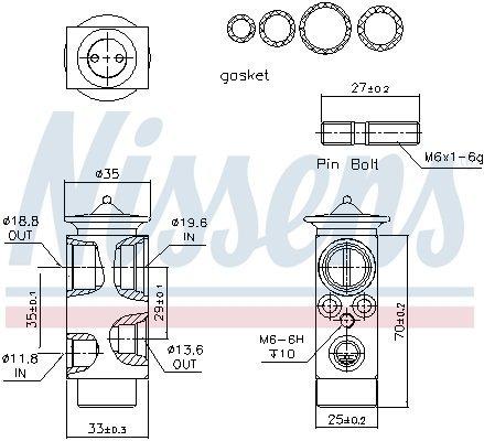 Expansionsventil, Klimaanlage NISSENS 999233 Bild 6