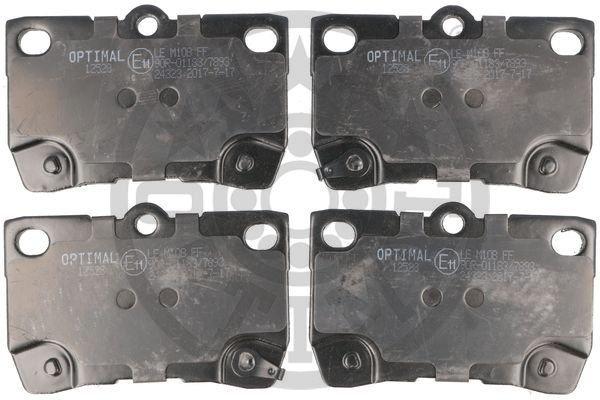Bremsbelagsatz, Scheibenbremse Hinterachse OPTIMAL 12528