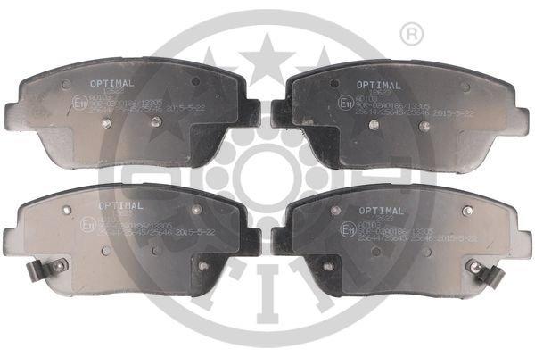 Bremsbelagsatz, Scheibenbremse Vorderachse OPTIMAL 12623