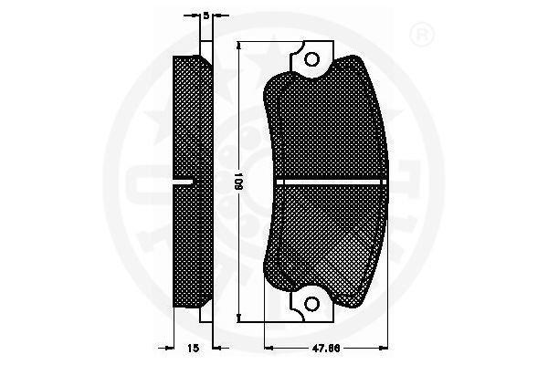 Bremsbelagsatz, Scheibenbremse Vorderachse OPTIMAL 3502 Bild 2