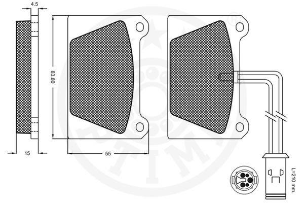 Bremsbelagsatz, Scheibenbremse Vorderachse OPTIMAL 9247 Bild 2