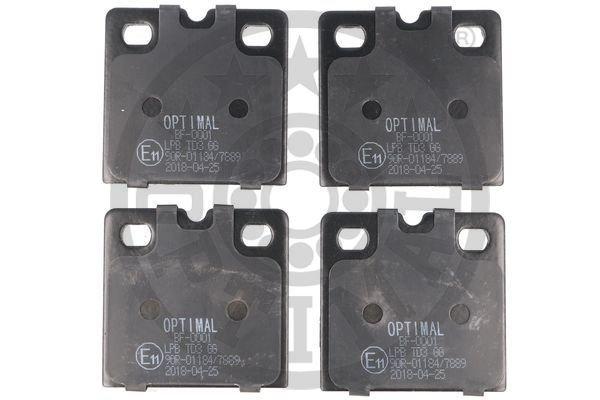 Bremsbelagsatz, Scheibenfeststellbremse Hinterachse OPTIMAL BF-0001 Bild 1