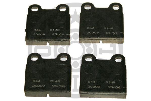Bremsbelagsatz, Scheibenbremse Hinterachse OPTIMAL BP-09149