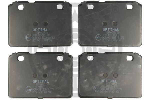 Bremsbelagsatz, Scheibenbremse Vorderachse OPTIMAL BP-09151