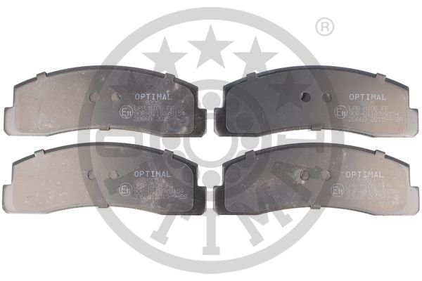 Bremsbelagsatz, Scheibenbremse Vorderachse OPTIMAL BP-09205