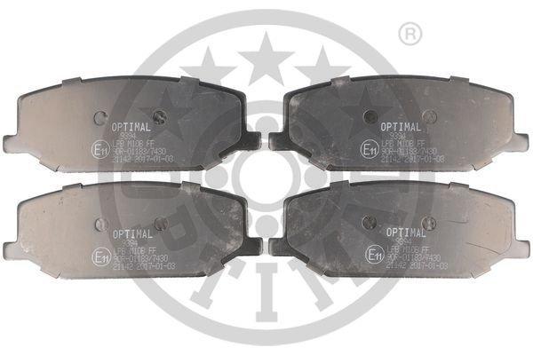 Bremsbelagsatz, Scheibenbremse Vorderachse OPTIMAL BP-09394