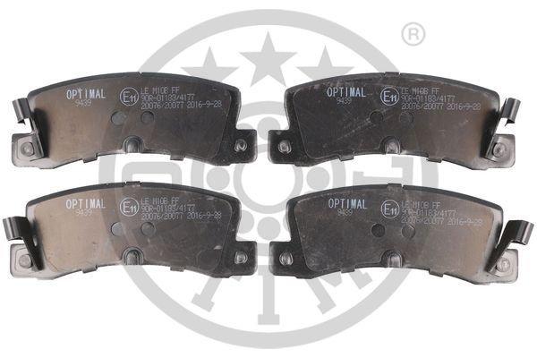 Bremsbelagsatz, Scheibenbremse Hinterachse OPTIMAL BP-09439